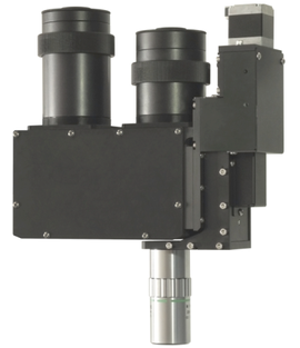 M2C 2 Camera industrial microscope for AOI in configuration with Z stage for HR objectives